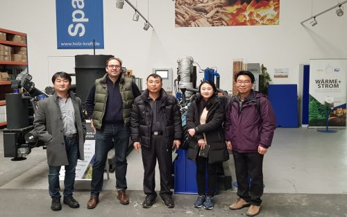 South Korean Ministry of Forestry visit CHP market leader