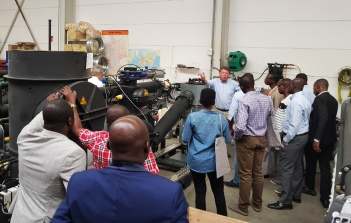 Bioenergy experts from Ghana visit wood gasifier manufacturer Spanner Re² in Bavaria