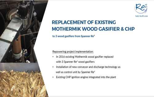 Repowering of Mothermik and Kuntschar-Schlüter wood gasifiers & CHP