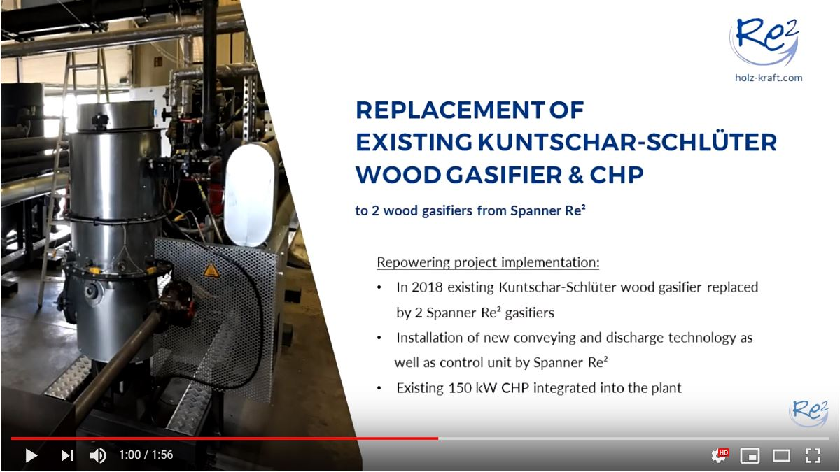 replacement of existing wood gasifier and chp